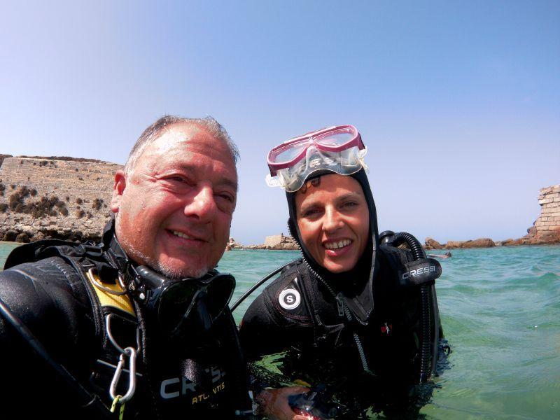 Bautismo de submarinismo en Tarifa de Carmen